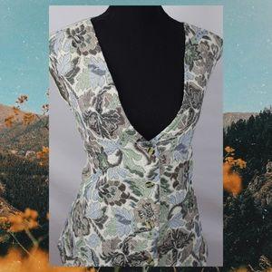 VTG 90s MINA Plus Floral Vest
